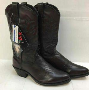 Abilene Mens black cherry western boots